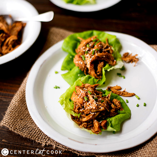 Slow Cooker Sesame Chicken Wraps