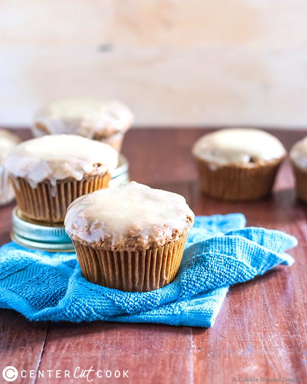 zucchini muffins peanut butter glaze 2