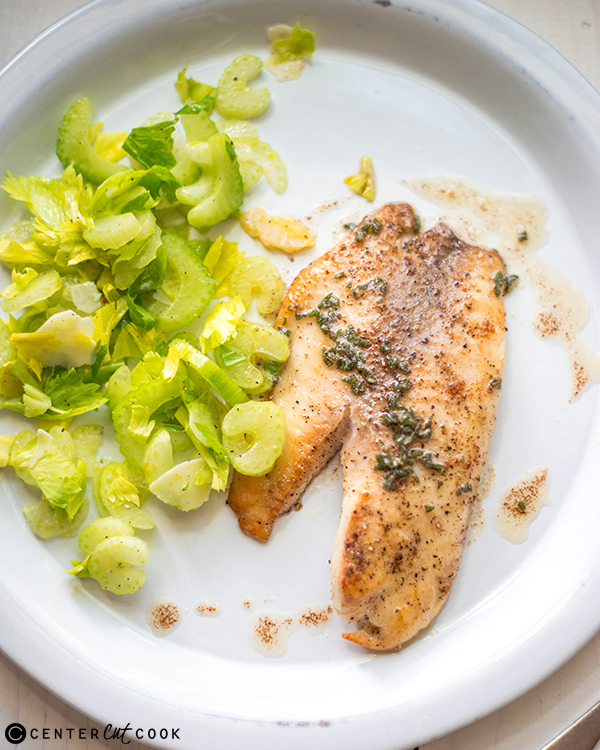 brown butter tilapia celery salad 3
