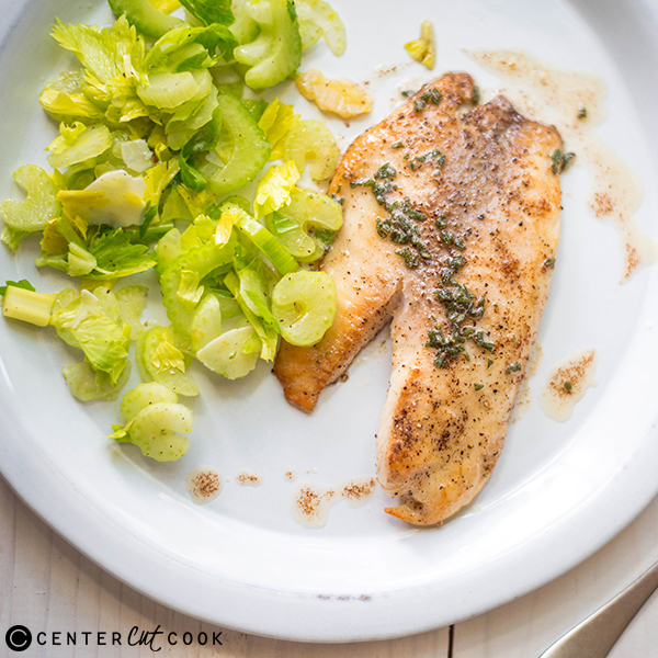 brown butter tilapia celery salad 4