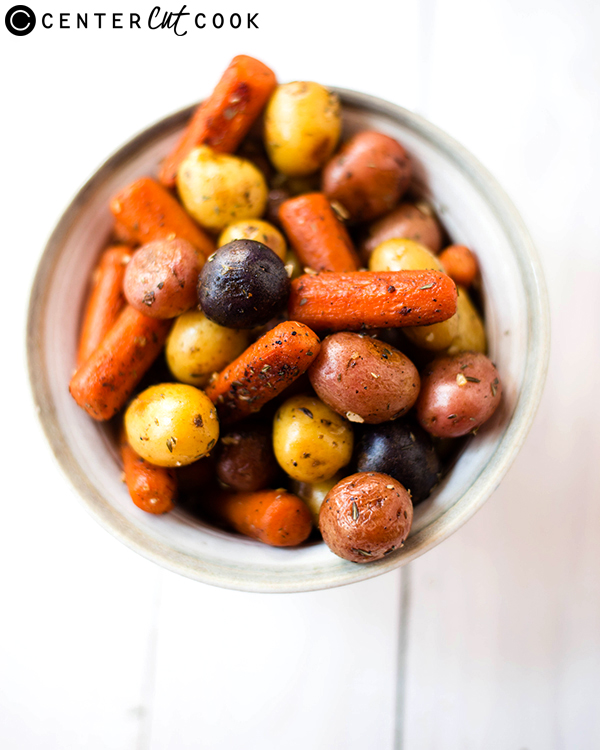 garlic roasted potatoes carrots 2