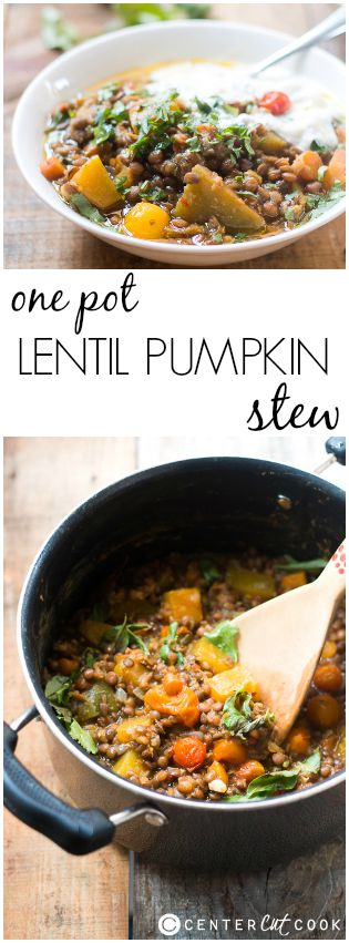 lentil pumpkin stew pin