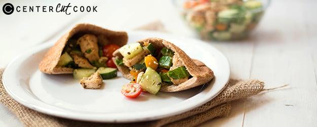 Mediterranean Chicken Pitas