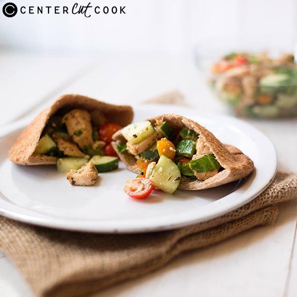 mediterranean chicken pitas 4