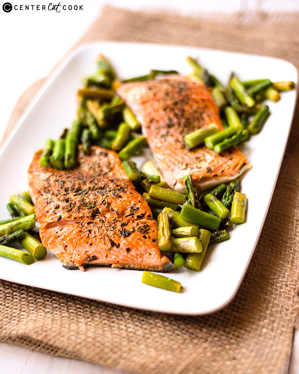 one pan herb roasted salmon 3