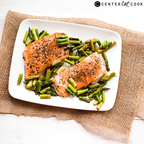 one pan herb roasted salmon 4