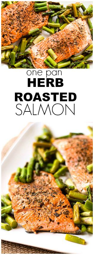 one pan herb roasted salmon pin