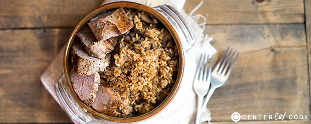 pork tenderloin with seasoned brown rice 1