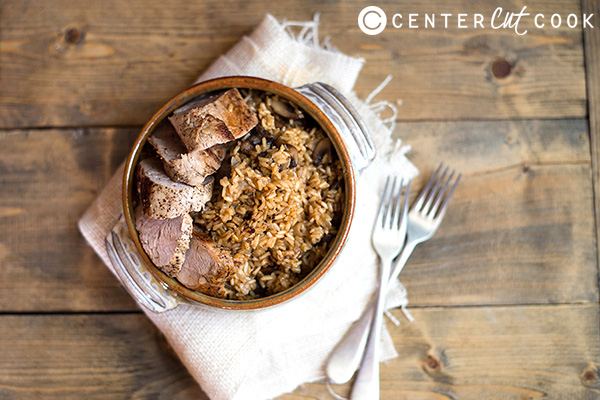 pork tenderloin with seasoned brown rice 2
