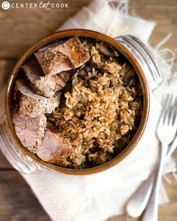 pork tenderloin with seasoned brown rice 3