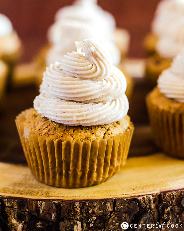 Pumpkin Spice Cupcakes with Cinnamon Frosting Recipe