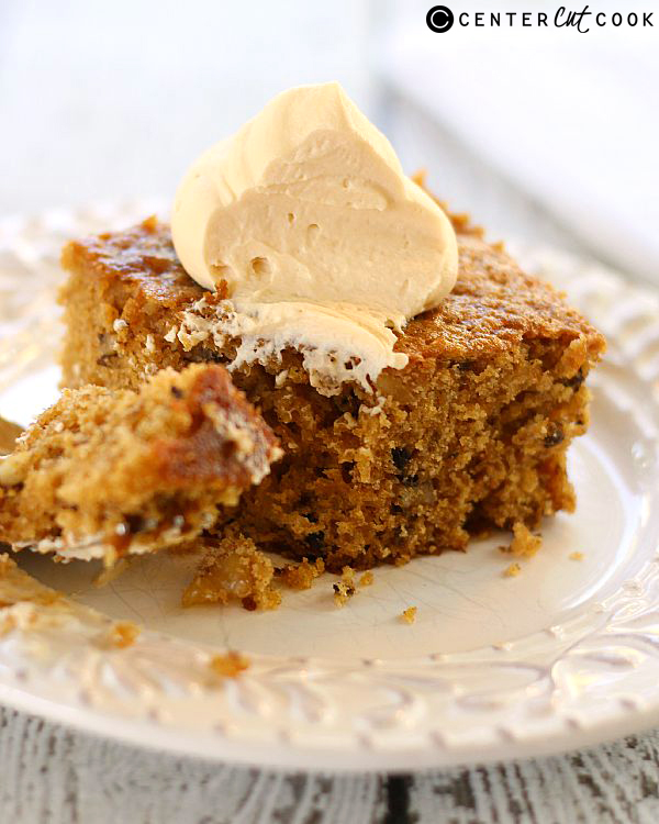 pumpkin walnut cake with caramel whipped cream 2