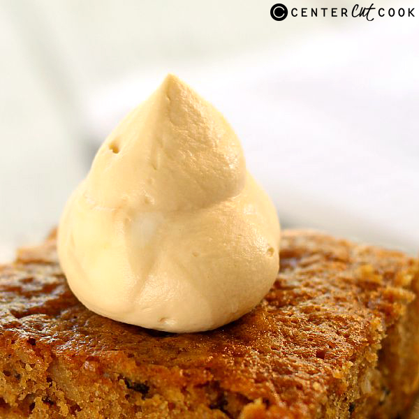 pumpkin walnut cake with caramel whipped cream 4