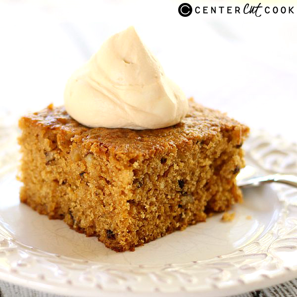 pumpkin walnut cake with caramel whipped cream 5