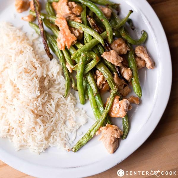 spicy turkey green bean stir fry 3