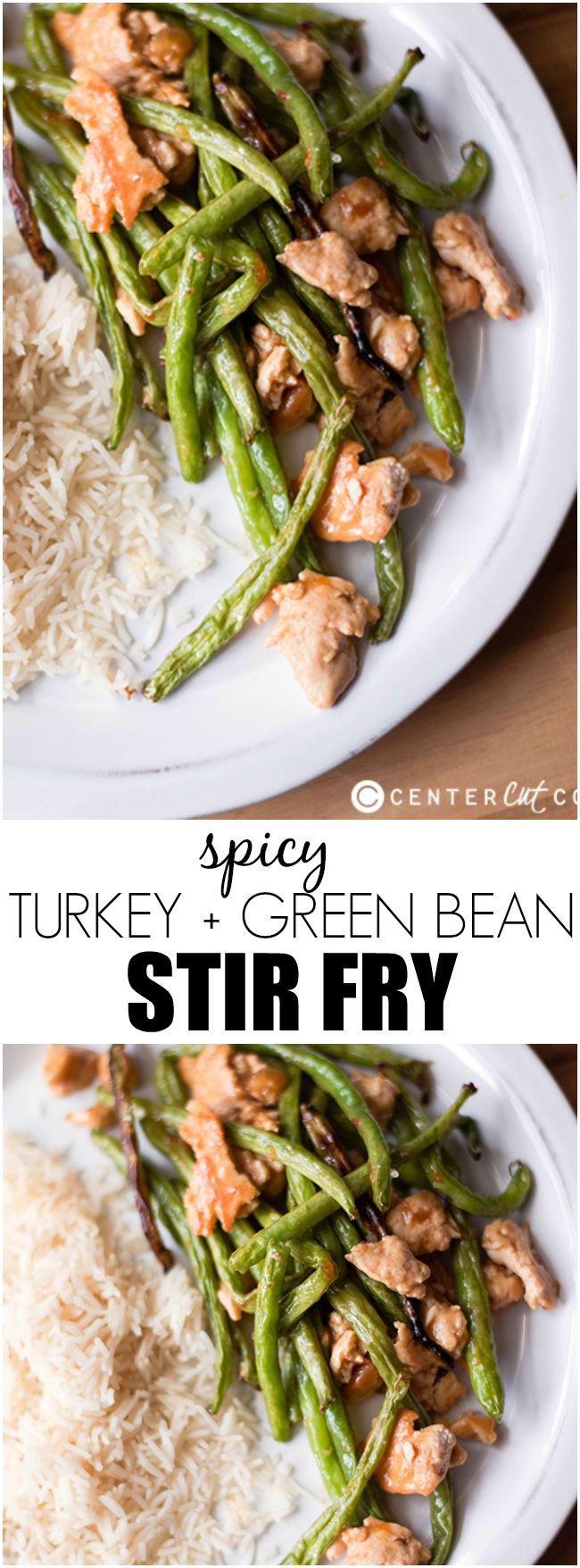 spicy turkey green bean stir fry pin