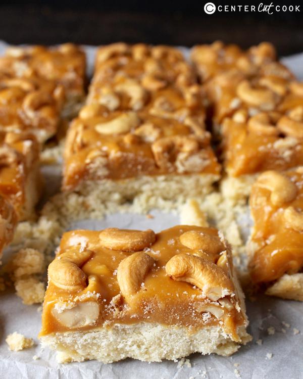 caramel cashew bars 3