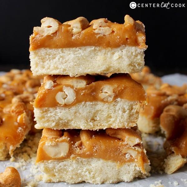 caramel cashew bars 4