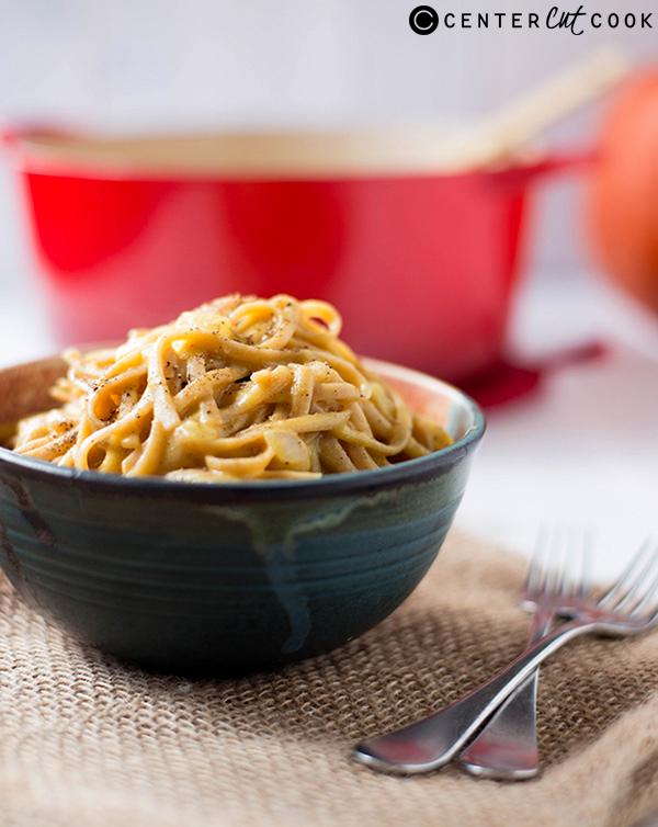 one pot creamy pumpkin pasta 3