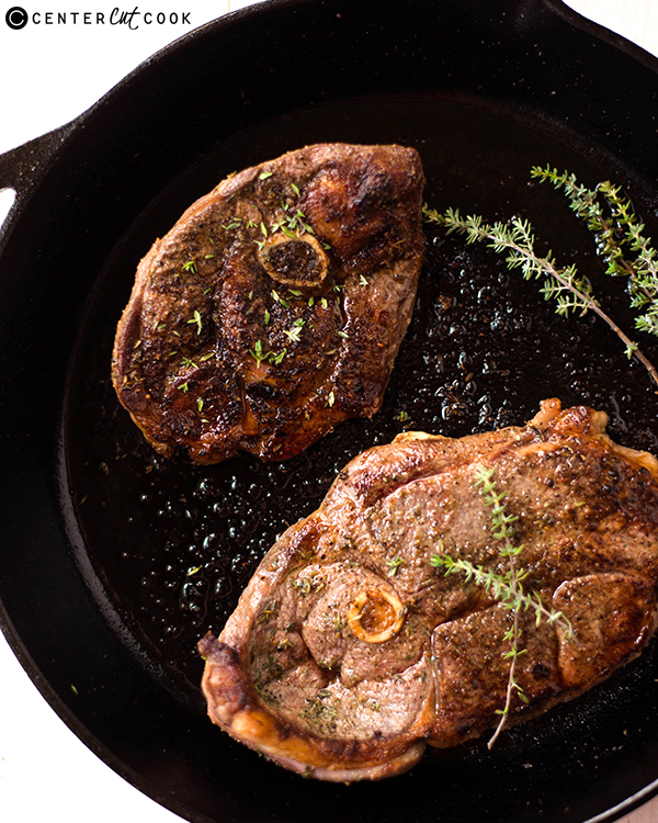 pan seared thyme lamb steaks 2