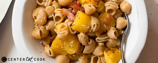 Pasta with Acorn Squash and Bacon
