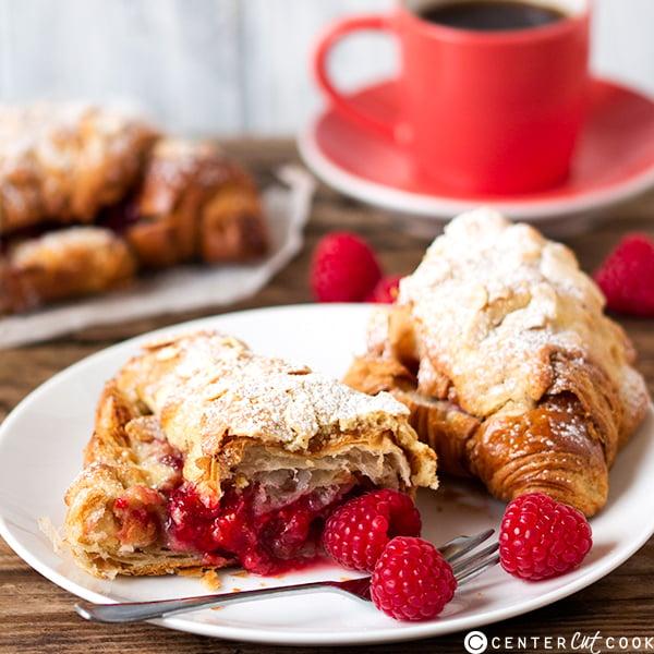 raspberry frangipane stuffed croissants 5