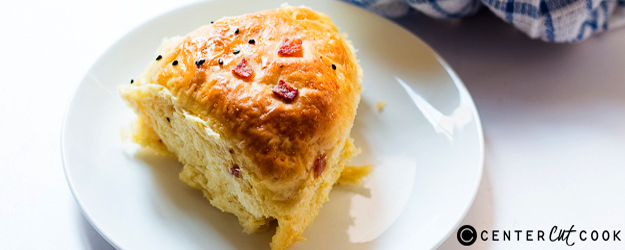 soft pumpkin bacon dinner rolls 1