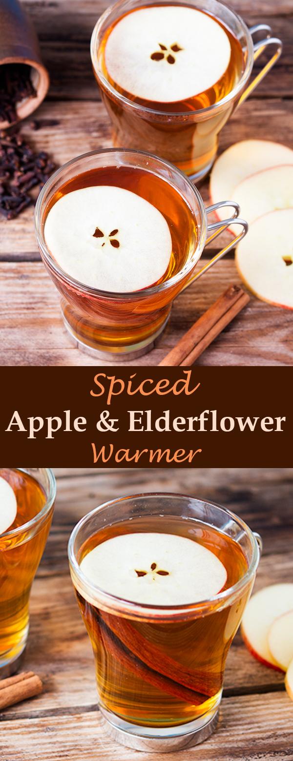 spiced apple elderflower warmer pin