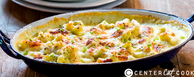 cheesy garlic cauliflower gratin 1