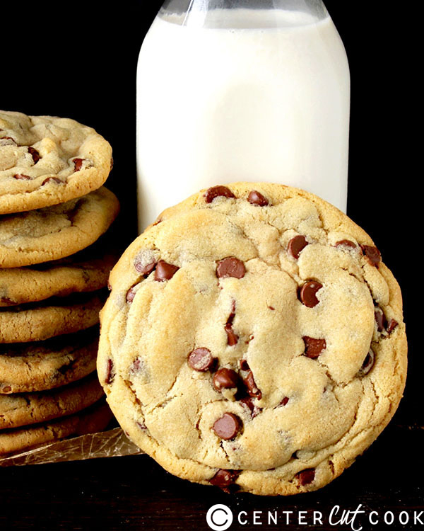 Jumbo Dark Chocolate Chip Cookies