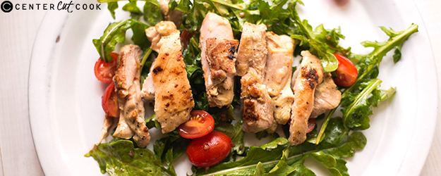 lemon dijon chicken arugula salad 1