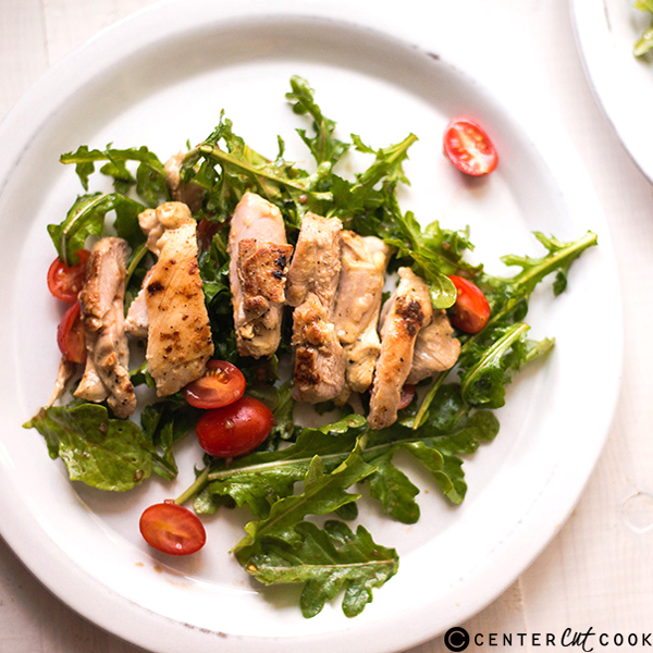 lemon dijon chicken arugula salad 3