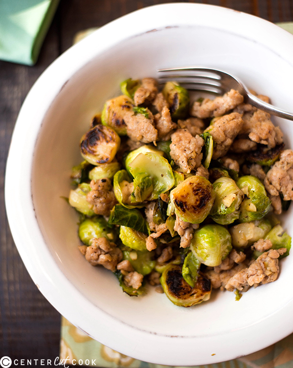 one pan chicken italian sausage brussels sprouts 2