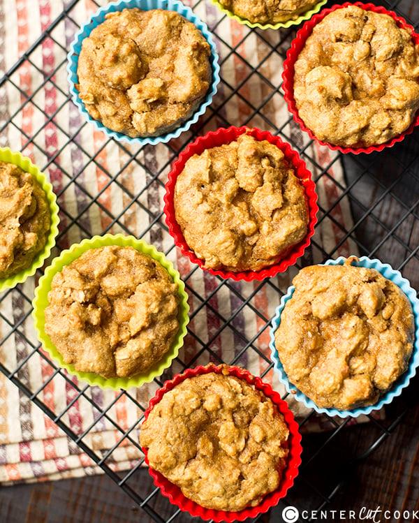 pumpkin oatmeal muffins 2