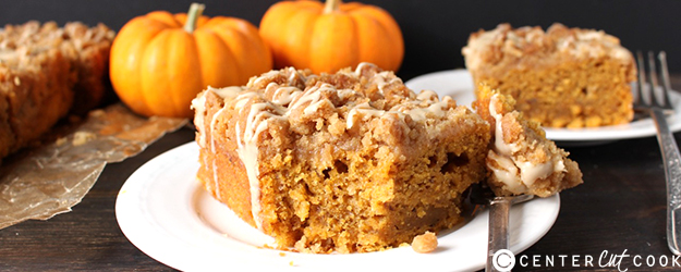 Dairy Free Pumpkin Coffee Cake