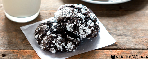 Cakey Chocolate Crinkle Cookies