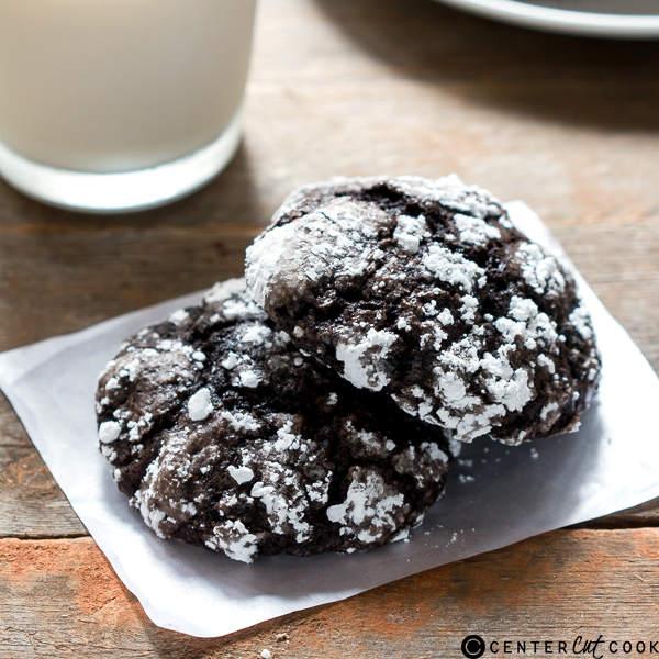 cakey chocolate crinkle cookies 3