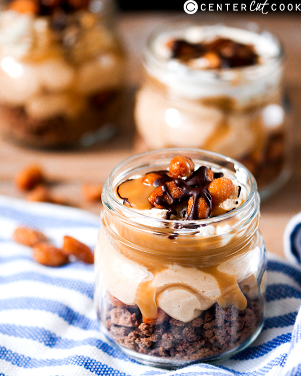 no bake peanut butter cheesecake jars 2
