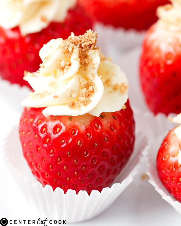 cheesecake stuffed strawberries 2