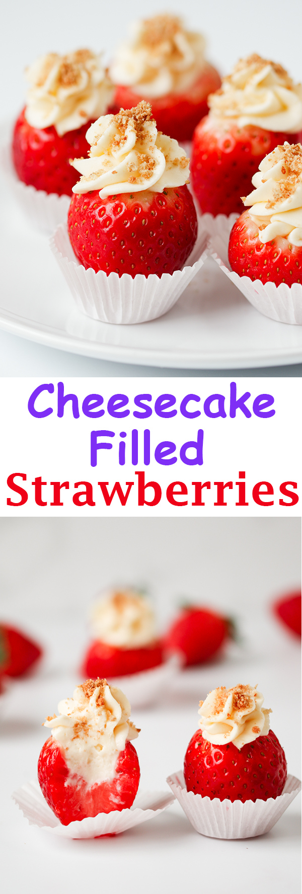 cheesecake stuffed strawberries pin