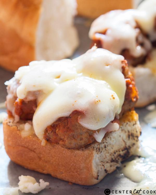 cheesy italian meatball sliders 2