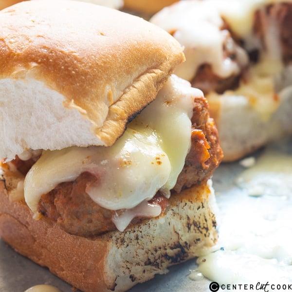 Cheesy Italian Meatball Sliders