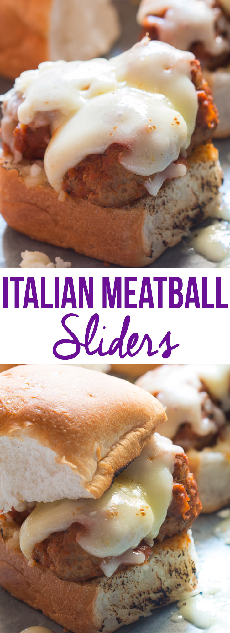 cheesy italian meatball sliders pin