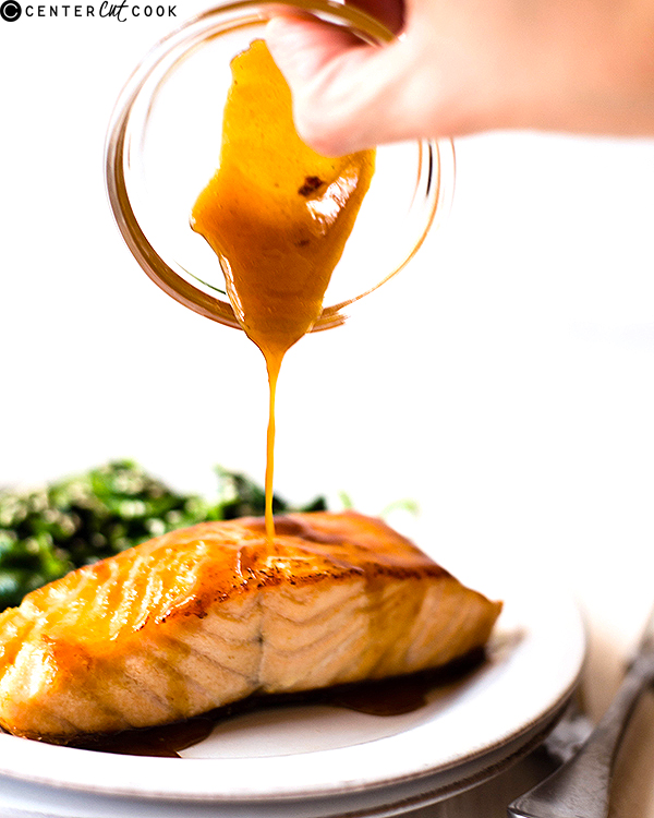 easy honey glazed salmon 2