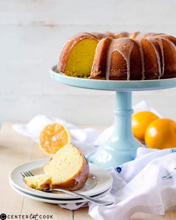 iced meyer lemon pound cake 2