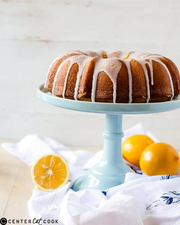 iced meyer lemon pound cake 3