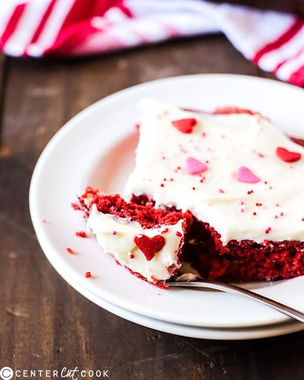 red velvet sheet cake cream cheese frosting 3