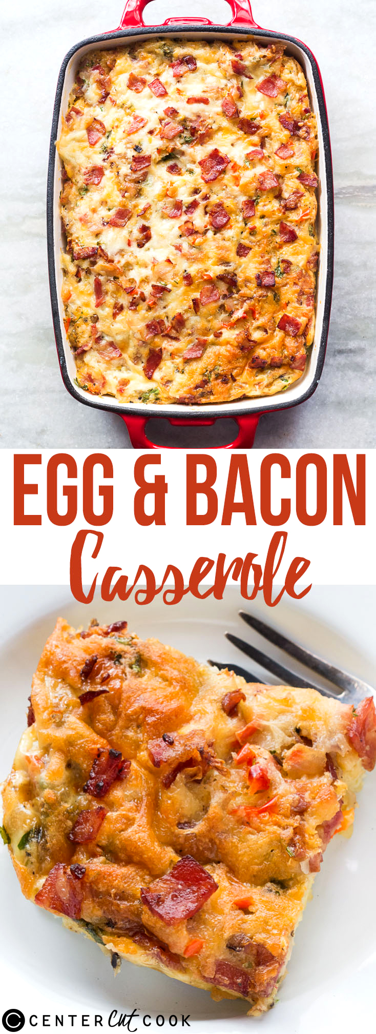egg bacon breakfast casserole pin