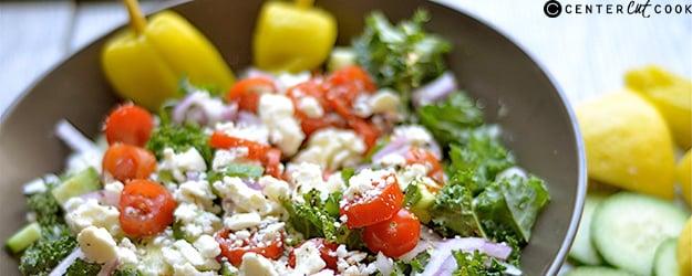 chopped kale greek salad 1