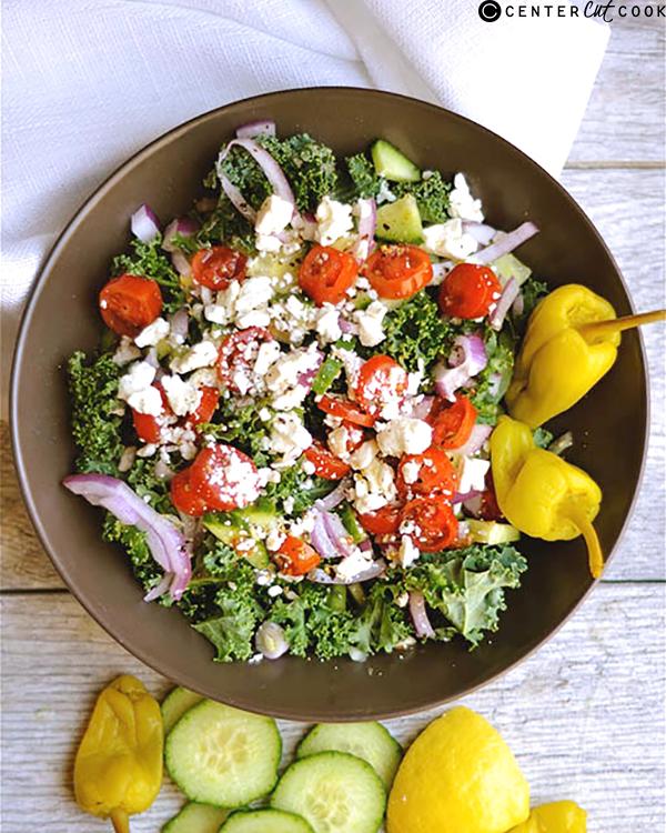 chopped kale greek salad 2